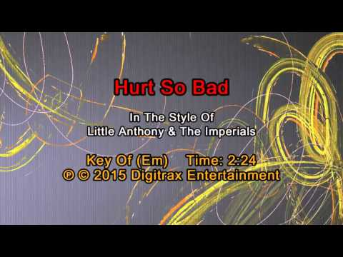 Little Anthony & The Imperials - Hurt So Bad (Backing Track)