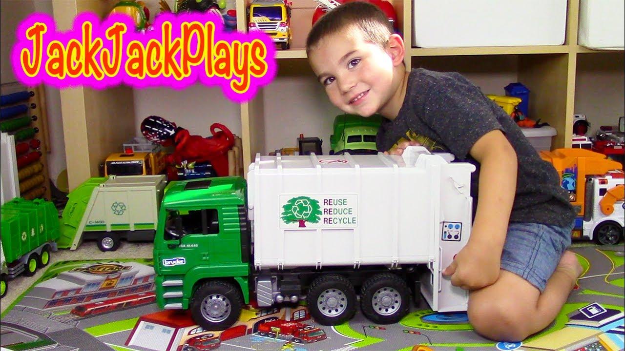 Garbage Trucks For Children Bruder Garbage Truck Toy