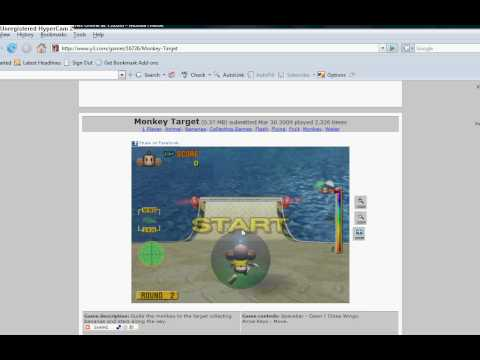 Playing Monkey Target on y3 .com