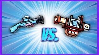 Pixel Gun 3D - Snowball Gun UP2 vs. Avalanche UP2!