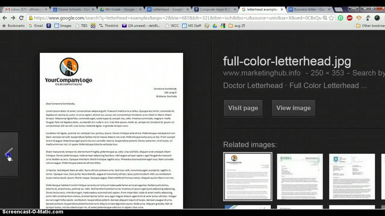 Letterhead Examples  Youtube