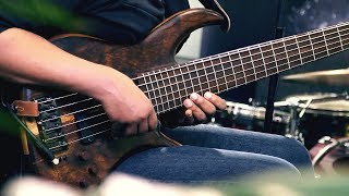 BREATHTAKING 6 STRING BASS SOLO (with an Ebow on just one string?)