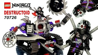 LEGO® Ninjago Rebooted Destructoid Mech 70726 Speed Build w/ Zane General Cryptor & Mindroid