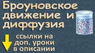БРОУНОВСКОЕ ДВИЖЕНИЕ ДИФФУЗИЯ физика 7 класс | Романов