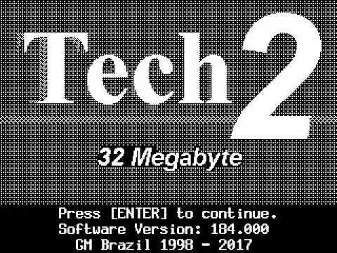 Tech2 Tech2Win software GM Brazil 184 000 (1998-2017) - Saphon Safon