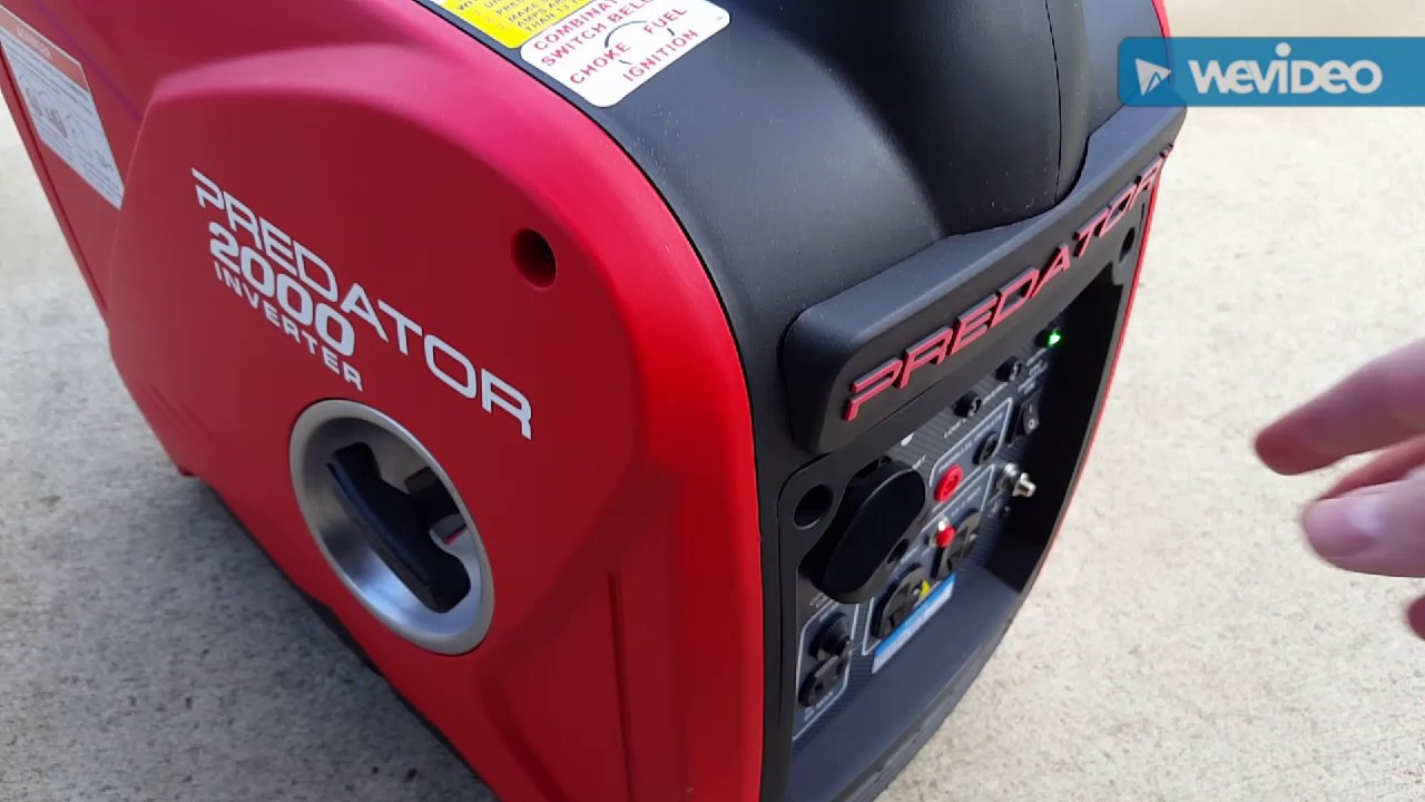 Harbor Freight Predator 2000 Watt Inverter Generator Part 1 - First Start  and Test