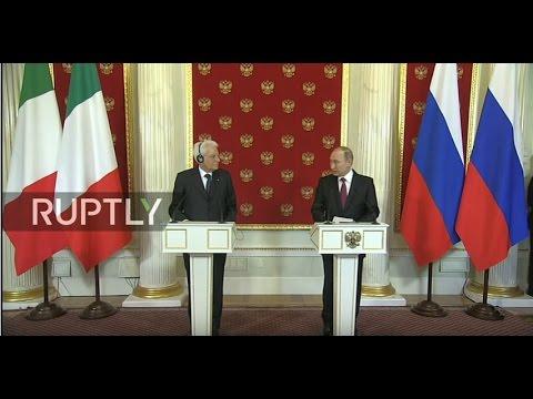 LIVE: Putin holds press conference with Italian counterpart Mattarella