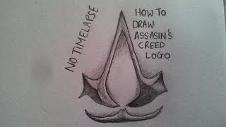 How to draw assassins creed logo