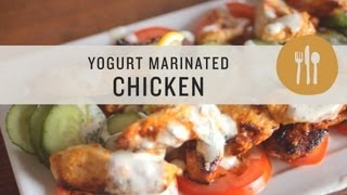 Yogurt Marinated Chicken With Creamy Greek-inspired Sauce