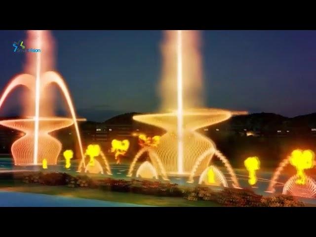 Mô hình 3D biểu diễn nhạc nước nghệ thuật Lake Shape