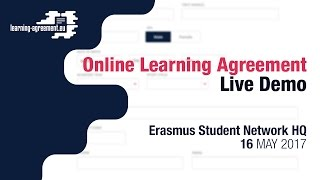 Online Learning Agreement Live Demo | 16.05.2017