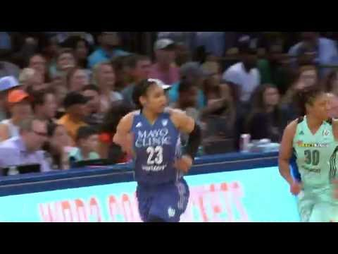Maya Moore Scores A Game High 25 Points In A Minnesota Lynx Victory Over The NY Liberty