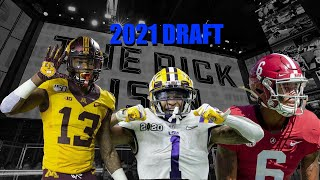 Top 10 2021 Draft Wide Receivers Highlights! Who Is The Best Draft Eligible Wide Receiver?