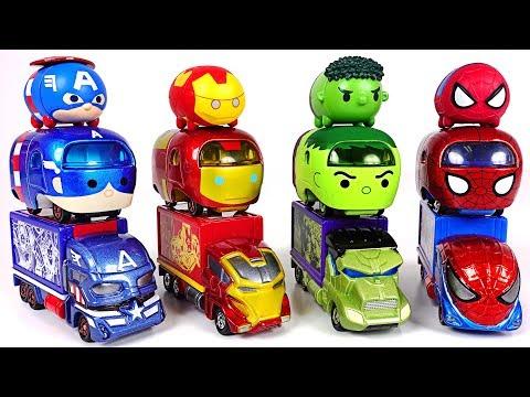 We envy Transform Tsum Tsum cars! Tomica Marvel Tune Hulk, Spider Man, Iron Man! - DuDuPopTOY