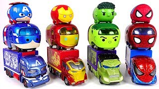 We envy Transform Tsum Tsum cars! Tomica Marvel Tune Hulk, Spider Man, Iron Man! - DuDuPopTOY