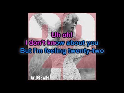 Karaoke : 22 - Taylor Swift (Official Instrumental)
