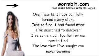 Celine Dion - Overjoyed ft. Stevie Wonder [LYRICS]