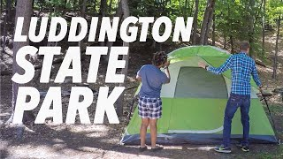 MY FIRST TIME CAMPING! | Luddington State Park, Michigan