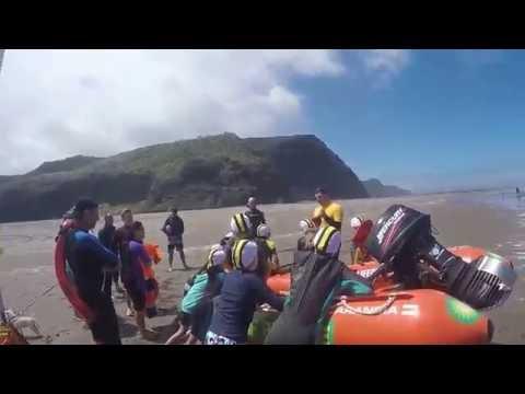 A weekend of lifeguard patrolling at Karekare Beach, Auckland, New Zealand