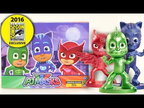 PJ Masks Comic-Con 2016 Exclusive Figure Three-Pack - Unboxed and Revealed