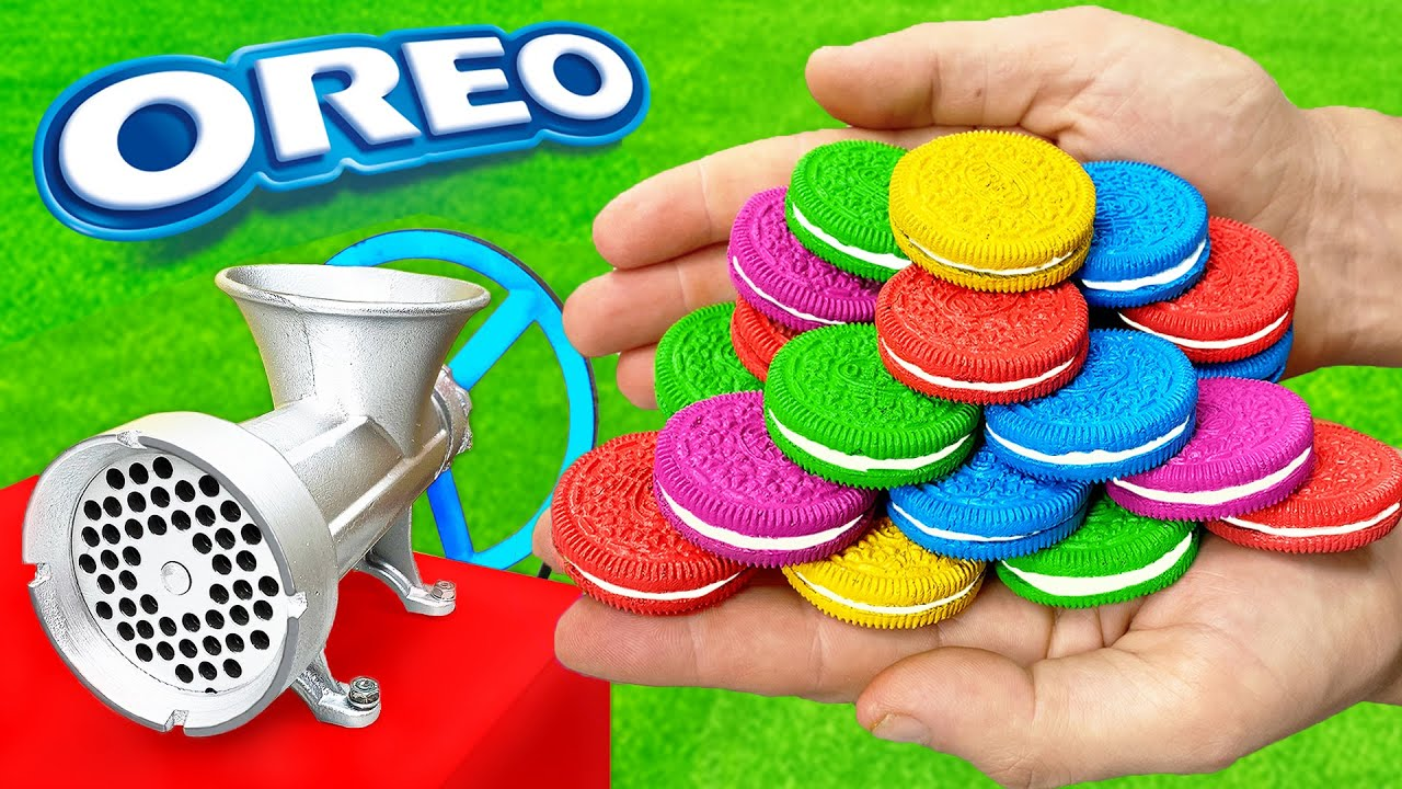 EXPERIMENT: COLORFUL OREO vs Meat Grinder #3