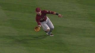 ARI@LAD: Ryu drives in run with first MLB triple