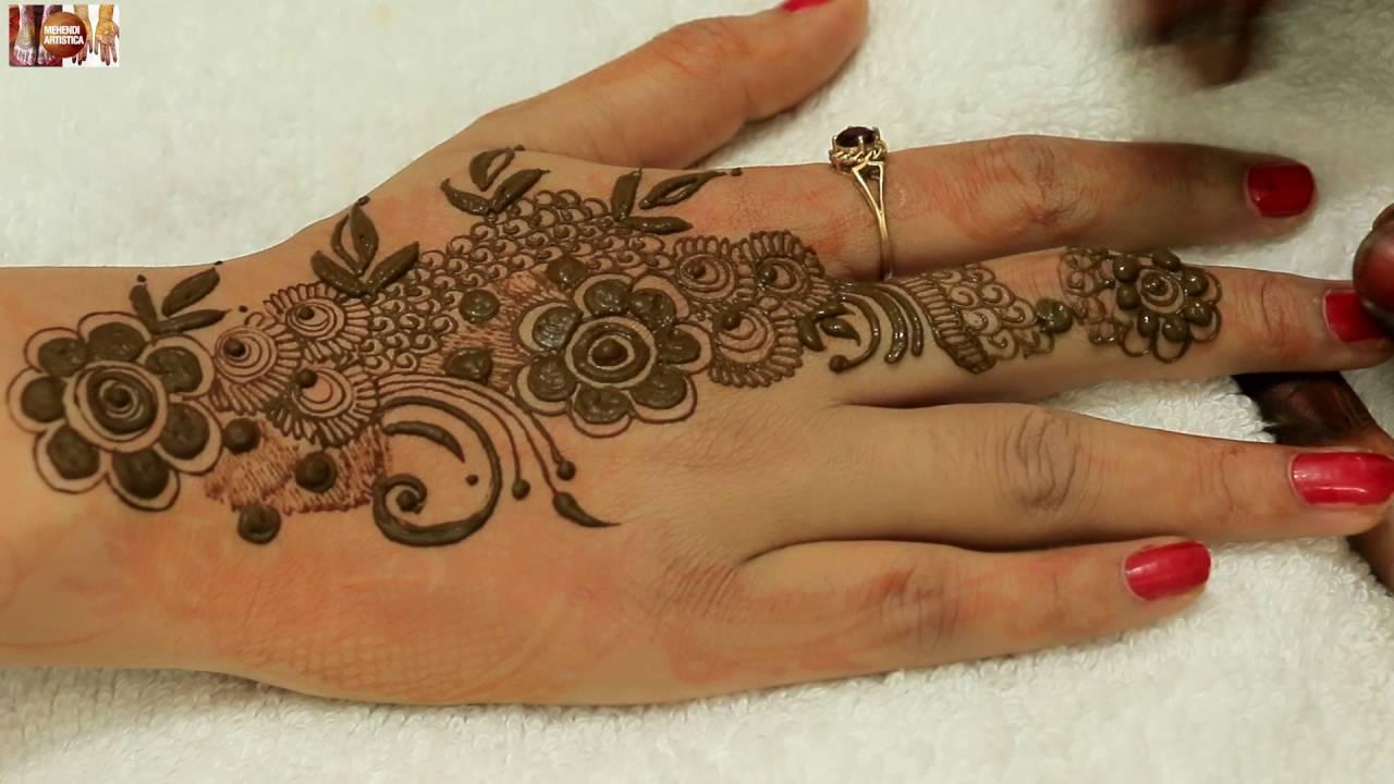 Bridal Mehndi Bunches : Beautiful bunch phool mehndi designs for hands:elegant stylish