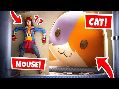Playing CAT Vs. MOUSE In Fortnite Hide & Seek! (Fortnite Challenge)