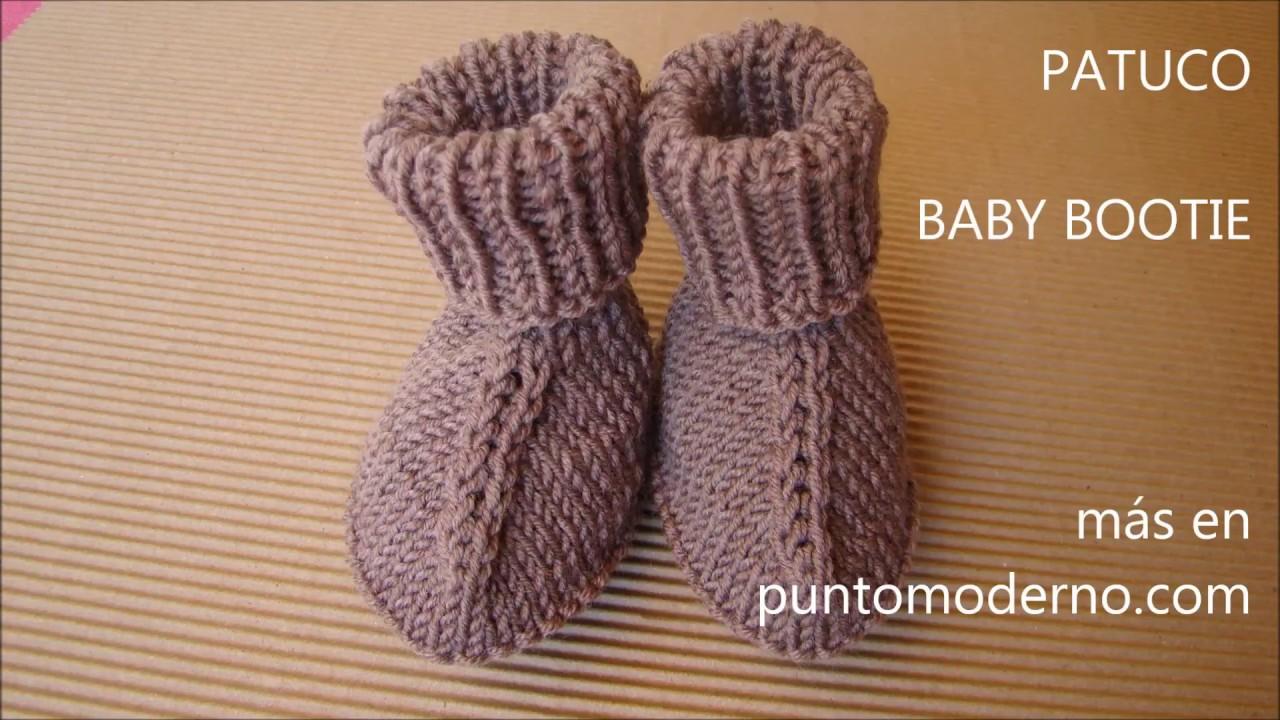 12c7cd133 PATUCOS DE BEBÉ PUNTO LISO BABY BOOTIES ESPAÑOL-ENGLISH PATTERN ...