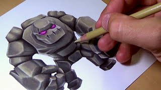 """Drawing Golem from """"Clash Royale"""" - COLLAB WITH YAZID LEMRABET"""