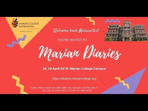 Marian Diaries | 28, 29 April 2018 | Invitation | Marian College Kuttikkanam (Autonomous)