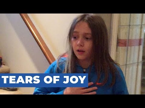 Girl Cries Tears of Joy After Getting New Kitten