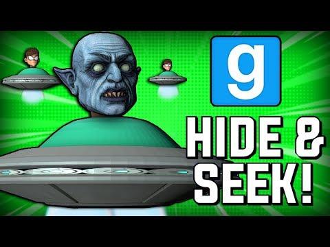 Gmod Hide and Seek UFO Edition! (Garrys Mod Funny Moments)