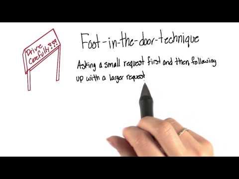 Foot In The Door Intro To Psychology Youtube