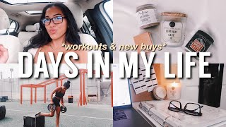 DAYS IN MY LIFE: Morning Workout, Productivity Tips, Getting Lots of New Things & Working From Home!