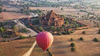 Balloon Flight Over Bagan, Myanmar in 4K (Ultra HD)