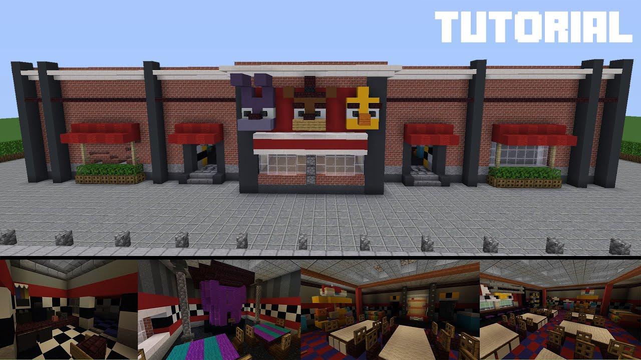 Minecraft Tutorial: How To Build Freddy Fazbear's Pizza Restaurant (Part 1)