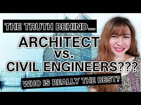 ARCHITECT vs. CIVIL ENGINEER???   The Difference of The Two Professions Explained! [ENG SUB]
