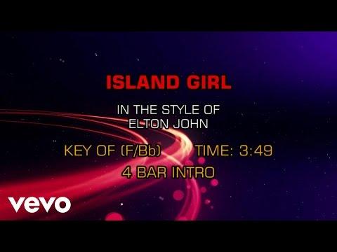 Elton John - Island Girl (Karaoke)