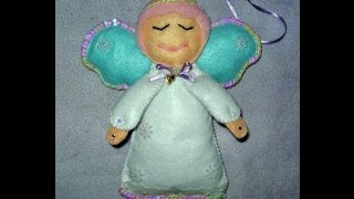 Рождественский ангелочек из фетра