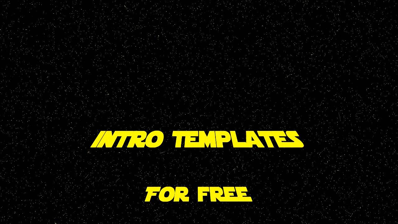 Star Wars Template | Template Intro Sony Vegas Pro 9 Episode 6 Starwars Youtube