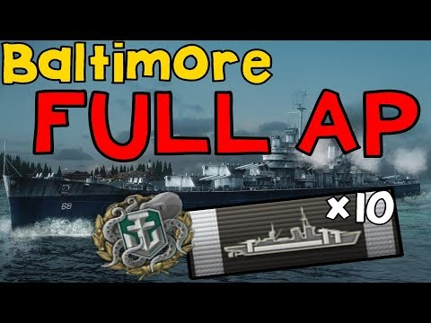 Baltimore shoot full Ap shell without any HE || World of Warships
