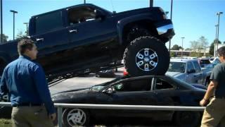 Boys in big monster trucks! :) Bound to happen.