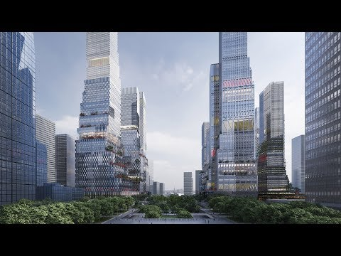 Mecanoo designs 12 skyscrapers for new business district in Shenzhen
