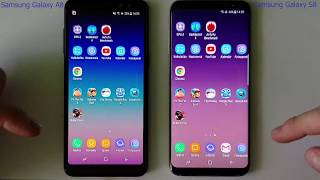 Samsung Galaxy A8 2018 vs Samsung Galaxy S8 - SPEED TEST + multitasking - Which is faster!?