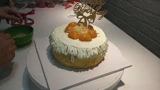 Bông lan trứng mặn sốt phô mai | July Cake