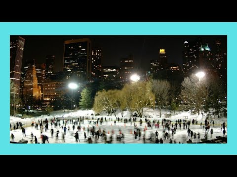 Night skating and special show in Central Park, New York City (USA)