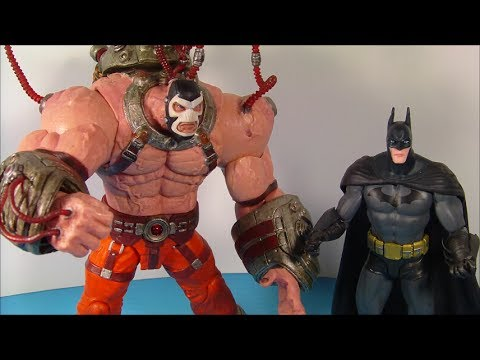 DC COLLECTIBLES BATMAN vs BANE 2 PACK ARKHAM ASYLUM VIDEO GAME ACTION FIGURE TOY REVIEW
