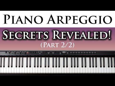 Best Free Piano Lessons Learn to Play Left Hand Piano Arpeggios (2/2)