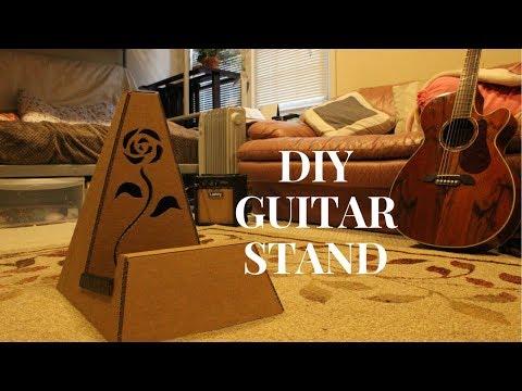DIY Cardboard Guitar stand